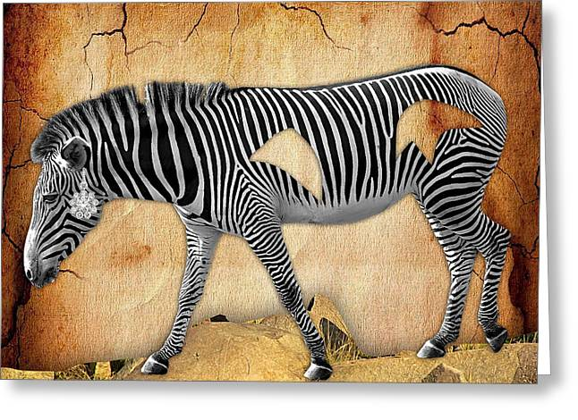 Diamond In The Rough Zebra. Spot The Diamond. Greeting Card by Marvin Blaine