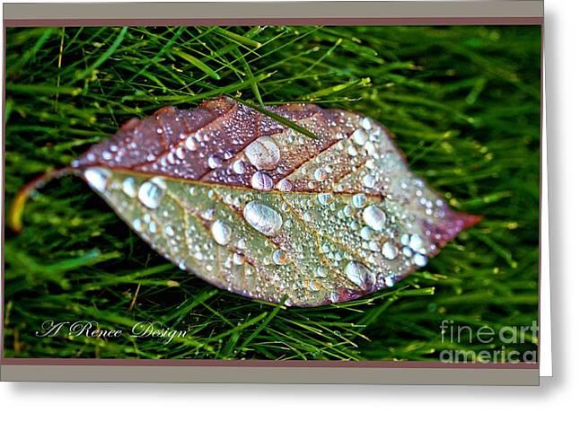 Diamond Leaf Shimmer Greeting Card