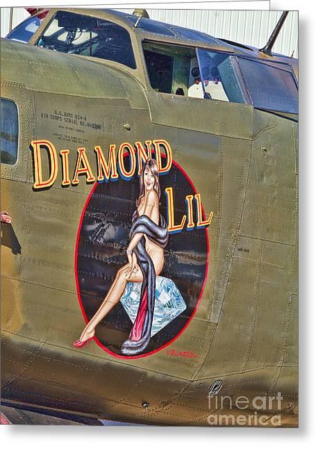 Diamond Lil-consolidated B-24 Liberator Greeting Card by Douglas Barnard