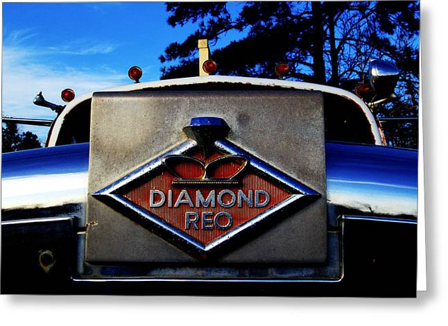 Diamond Reo Hood Ornament Greeting Card by Bartz Johnson