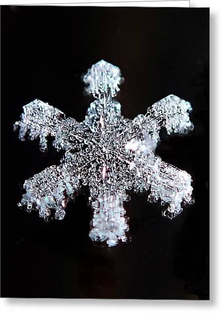 Diamond Snowflake Greeting Card by Lorella  Schoales