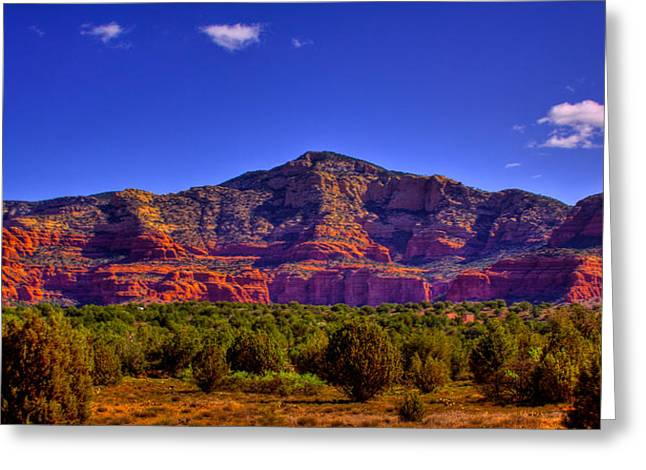 Diamondback Gulch Near Sedona Arizona Iv Greeting Card by David Patterson