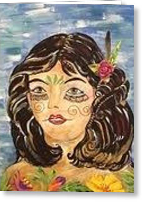 Diana Greeting Card by Karen Carnow