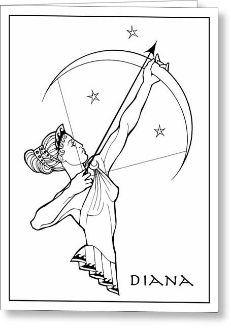 Diana Greeting Card