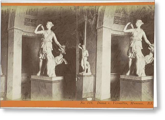 Diana V. Versailles France Museum Berlin Greeting Card by Artokoloro