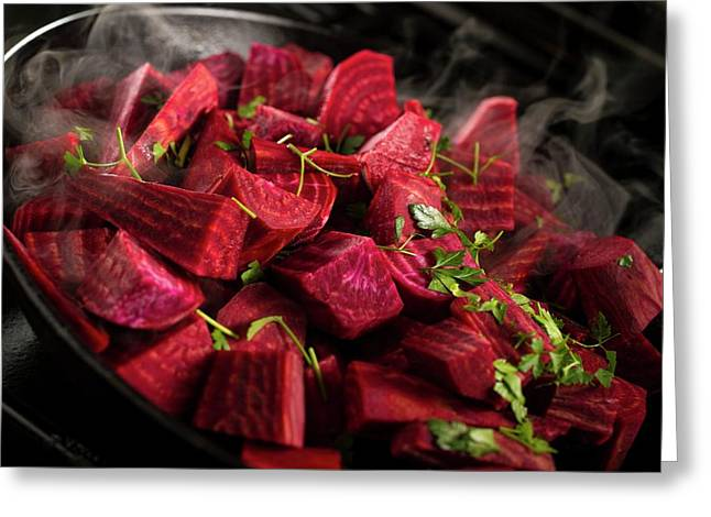 Diced Beetroot Greeting Card