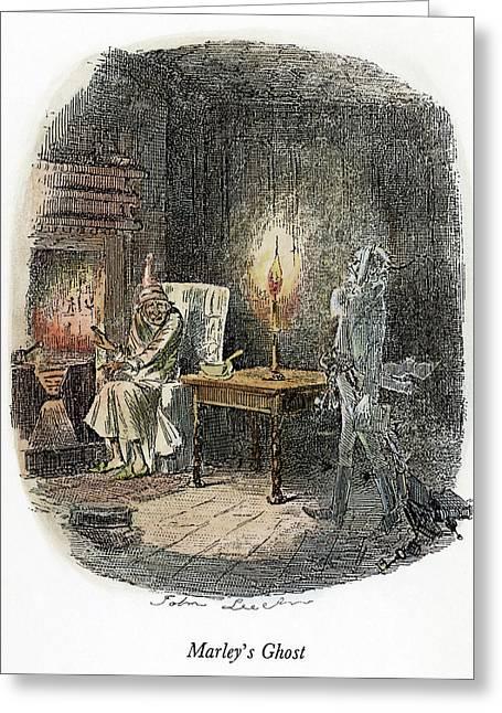 Dickens Christmas Carol, 1843 Greeting Card by Granger