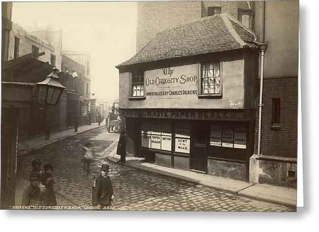 Dickens� Old Curiousity Shop Greeting Card by Underwood Archives