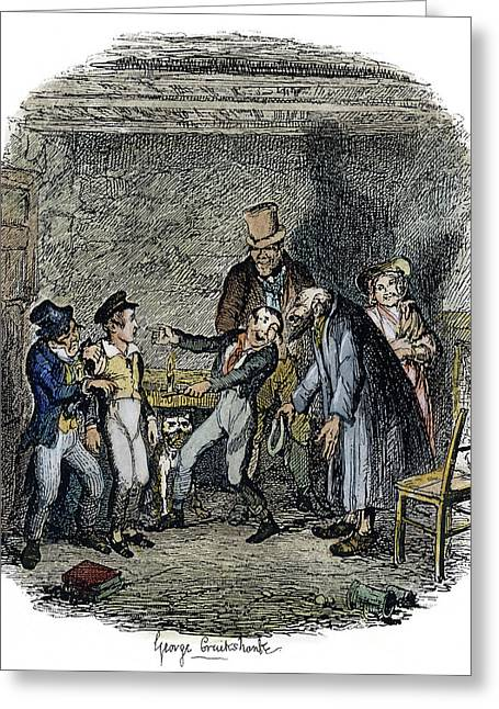 Dickens Oliver Twist, 1838 Greeting Card