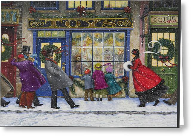 The Toy Shop Greeting Card by Lynn Bywaters