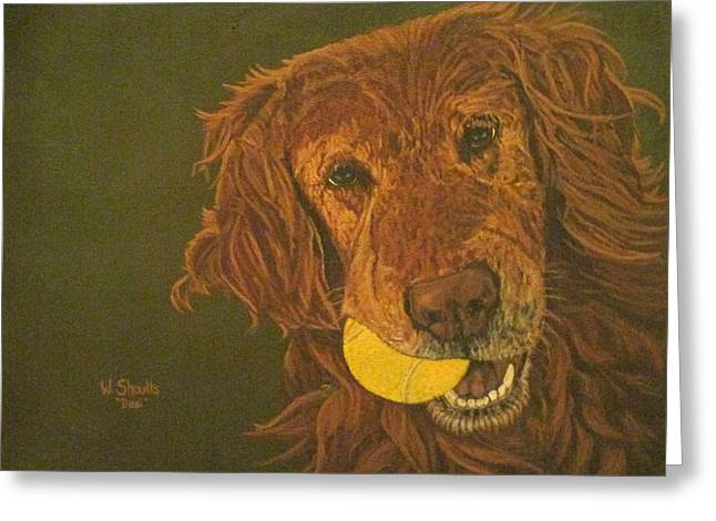 Did Somebody Say Ball? Greeting Card by Wendy Shoults