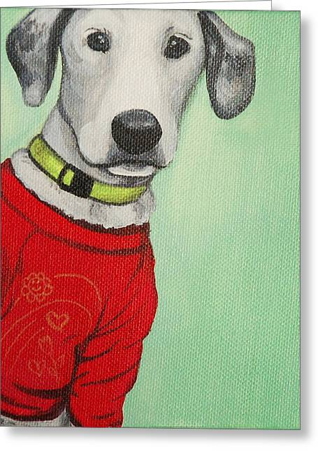 Did Someone Say Cookie Greeting Card by Lauren Hammack