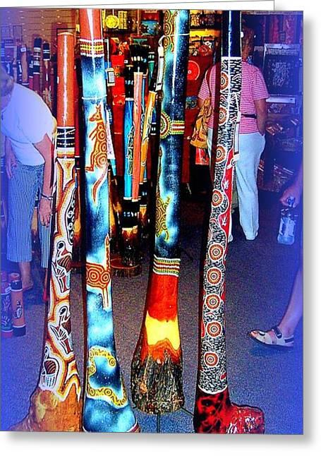 Didgeridoos For Sale Greeting Card by John Potts