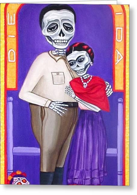 Diego Y Frida Xochimilco Greeting Card