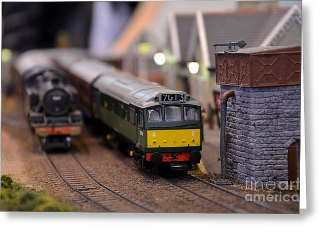 Diesel Electric Model Train Railway Engine Greeting Card