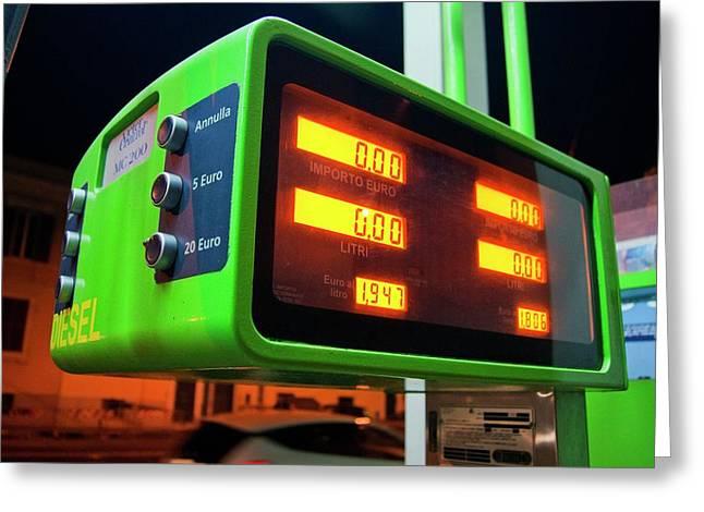 Diesel Pump In Rome. Greeting Card