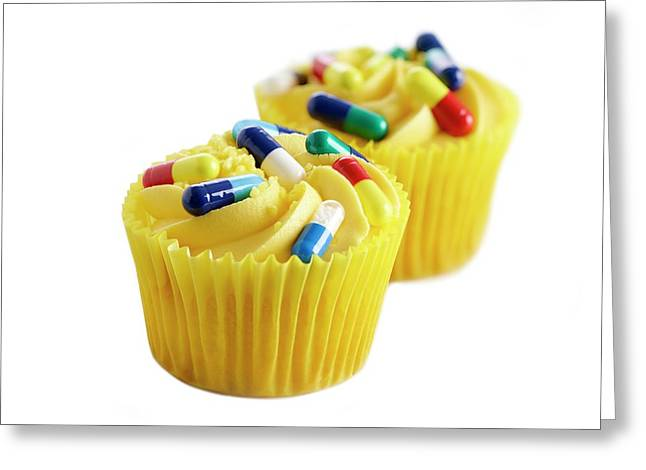 Diet Pills Greeting Card by Science Photo Library