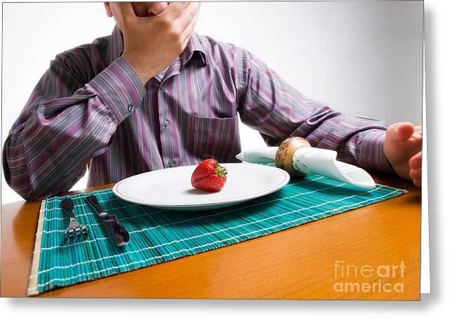 Diet Shock Greeting Card by Sinisa Botas