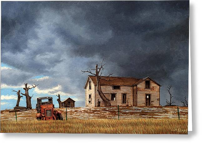 Different Day At The Homestead Greeting Card by Paul Krapf