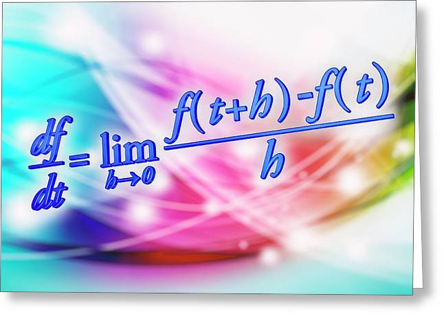 Differential Calculus Equation Greeting Card