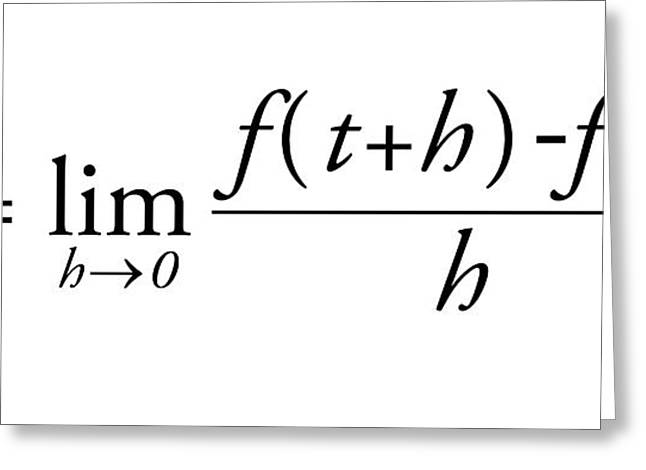 Differential Calculus Equation Greeting Card by Science Photo Library
