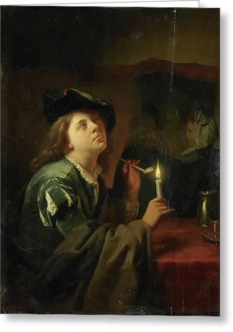 Differing Tastes, Godfried Schalcken Greeting Card by Litz Collection