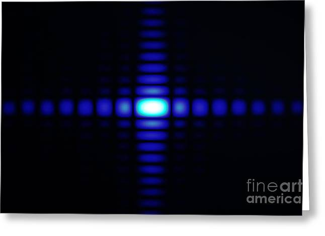 Diffraction On Rectangular Aperture Greeting Card by GIPhotoStock