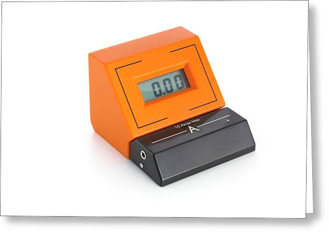 Digital Ammeter Greeting Card by Science Photo Library