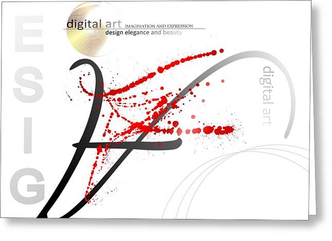 Digital Art 3.0 Greeting Card by Franziskus Pfleghart