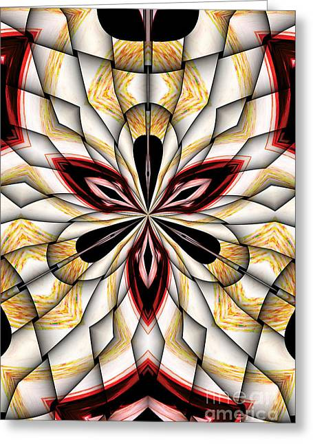 Digital Clover Greeting Card by Galactic  Mantra