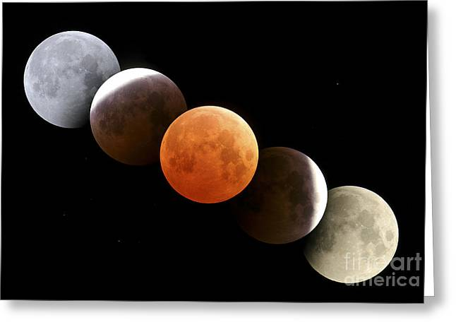 Digital Composite Of Total Lunar Greeting Card by Alan Dyer