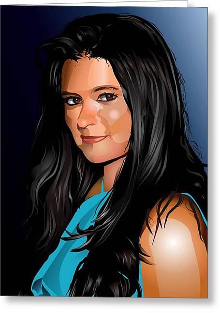 Digital Danica  Greeting Card by Dwain Morris