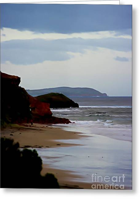 Digital Painting Of Smiths Beach Greeting Card