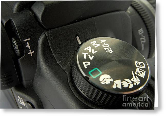 Digital Slr Close Up Detail Greeting Card by Jose Elias - Sofia Pereira