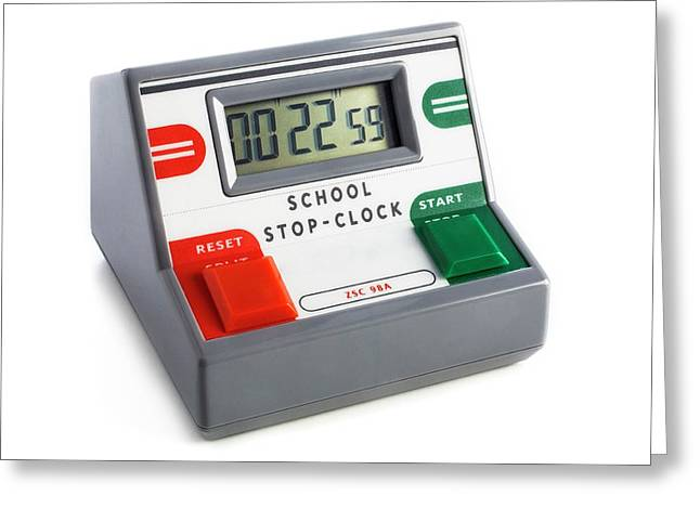 Digital Stopclock Greeting Card