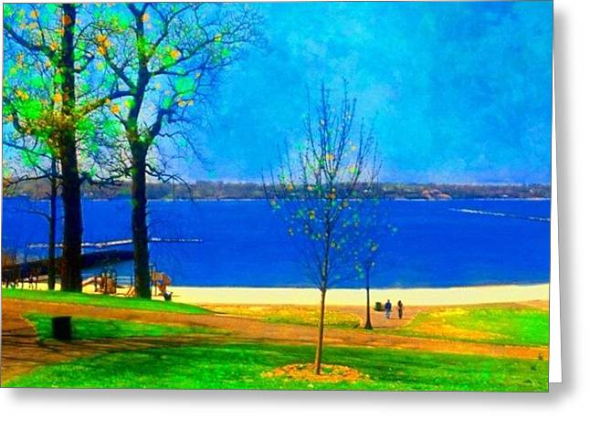 #digitalart #landscape #beach #park Greeting Card