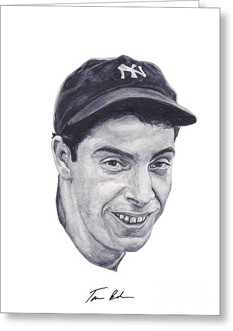 Greeting Card featuring the painting Dimaggio by Tamir Barkan