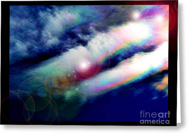 Dimensional Transits Greeting Card by Susanne Still