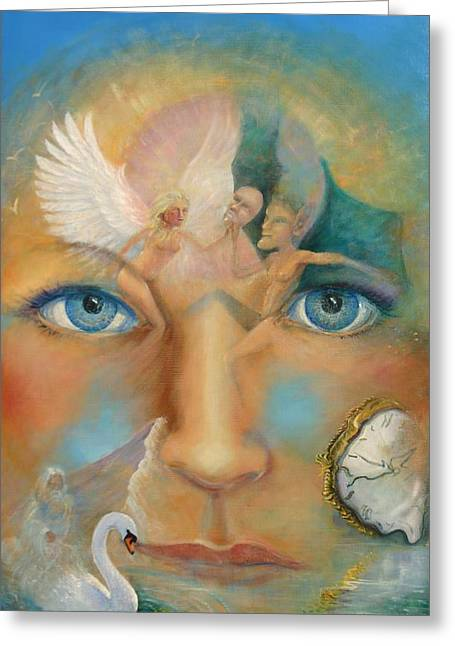 Dimensions Of The Mind Greeting Card by Peter Jean Caley