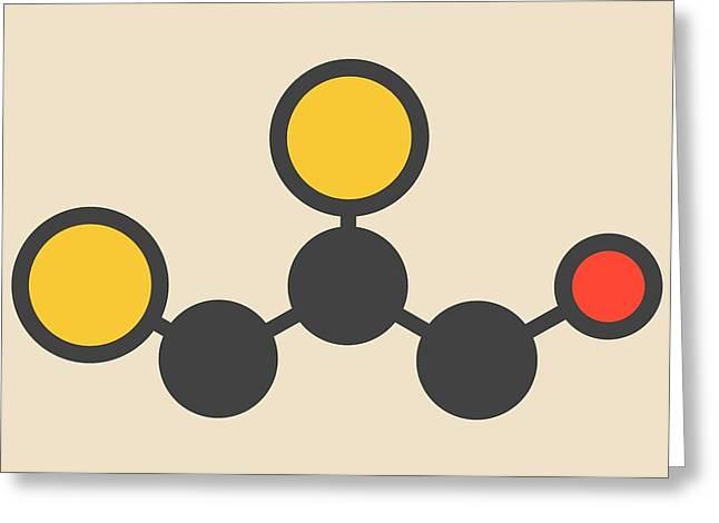 Dimercaprol Metal Poisoning Drug Molecule Greeting Card by Molekuul