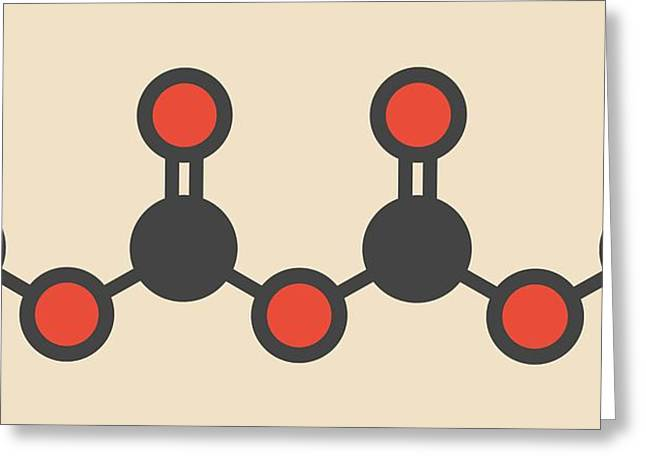 Dimethyl Dicarbonate Molecule Greeting Card