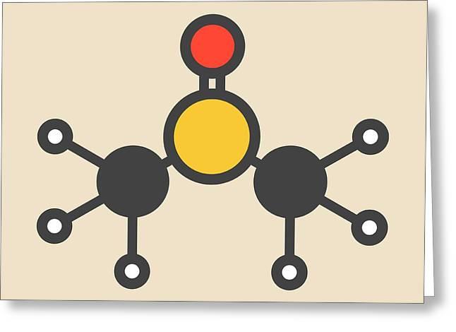 Dimethyl Sulfoxide Molecule Greeting Card by Molekuul