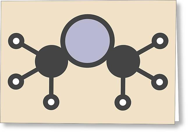 Dimethylmercury Molecule Greeting Card