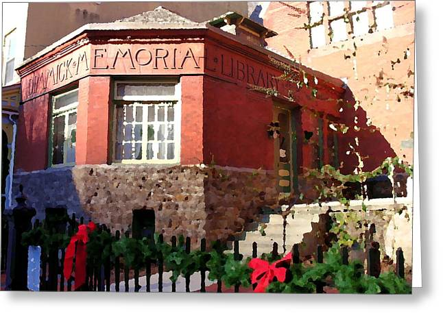 Dimmick Memorial Library In Jim Thorpe Pa - Abstract Greeting Card by Jacqueline M Lewis