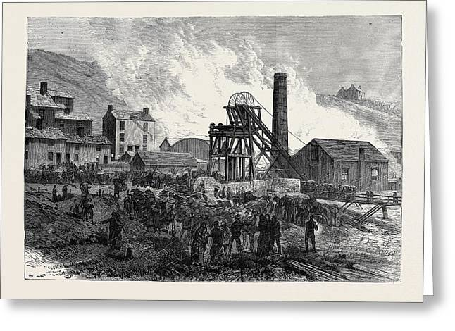 Dinas Colliery Rhondda Valley South Wales The Scene Greeting Card by English School