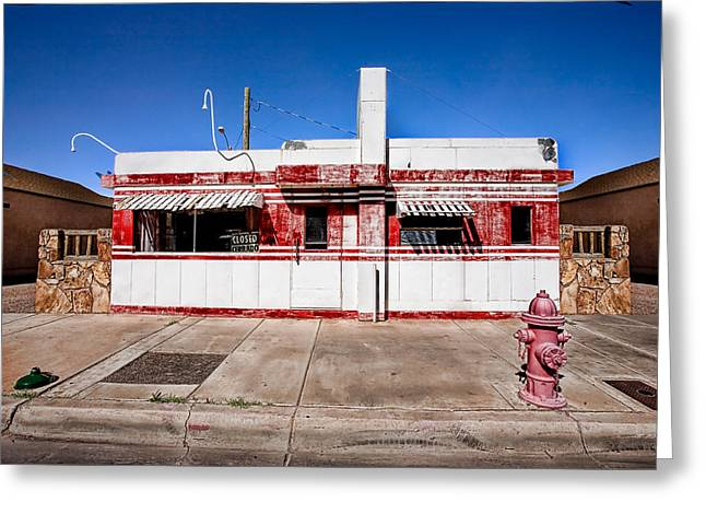 Travel Arizona Greeting Cards - Diner Greeting Card by Peter Tellone