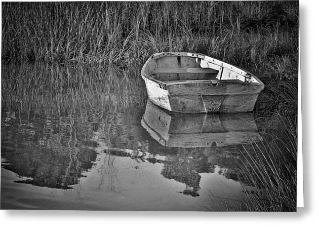 Dinghy In The Marsh Greeting Card