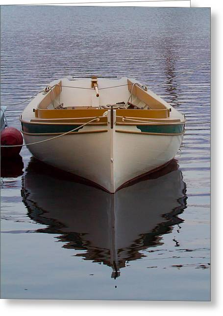 Dinghy Reflection  Greeting Card