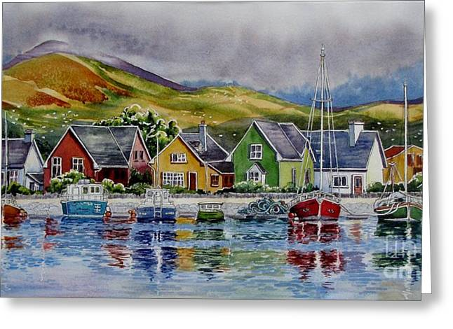 Dingle-harbour-1 Greeting Card by Nancy Newman