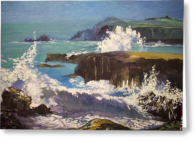 Greeting Card featuring the painting Dingle  - Kerry- Ireland by Paul Weerasekera
